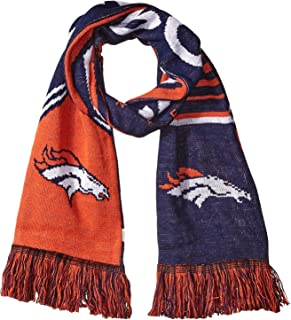 Forever Collectibles NFL Reversible Stripe Scarf - Offical Team Logo Football Winter Knit Scarves