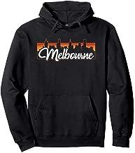 Vintage Style Retro Melbourne Australia Sunset Skyline Pullover Hoodie