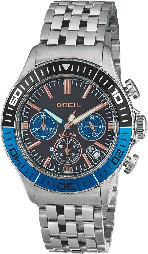 Breil orologio cronografo per uomo con movimento solare in acciaio inossidabile TW1820