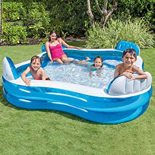 Family Inflatable Swimming Pool, Inflatable Seats with Backrests, Inflatable Pool, Family Full-Sized Inflatable Pools, Out...