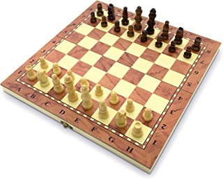 Juego de ajedrez de 34 cm, tabla plegable de calidad, hecho