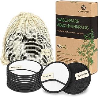 Discos Desmaquillantes Reutilizables Algodones Desmaquillante Reutilizable de Carbón de Bambú y Fibra de Bambú,Almohadilla...