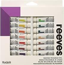 Reeves - Pintura al óleo mezclable con agua 10 ml, colores surtidos - Paquete de 18