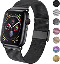 GBPOOT Compatible for Apple Watch Band 38mm 40mm 42mm 44mm, Wristband Loop Replacement Band for Iwatch Series 5,Series 4,Series 3,Series 2,Series 1,Black,42mm/44mm