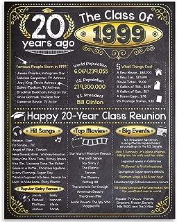 20th High School Reunion Class of 1999-11x14 Unframed Art Print - Makes a Perfect High School Reunion Decoration Under $15