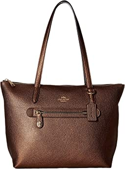 COACH Taylor Tote in Metallic Leather