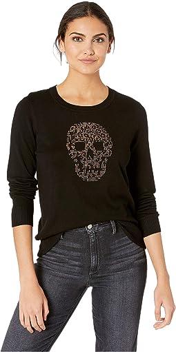 Skull Motif Sweater