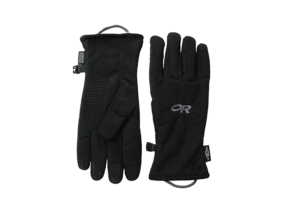 Outdoor Research Kids Fuzzy Sensor Gloves (Little Kid) (Black) Extreme Cold Weather Gloves