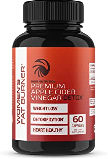 Fat Burner Pills for Women - Premium Apple Cider Vinegar Weight Loss Supplement - Womens Metabolism Booster & Appetite Suppressant - Thermogenic Diet Pills for Women - 60 Veggie Capsules