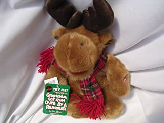 "Grandma Got Run Over by a Reindeer Moose Plush Toy 15"" Collectible ; with Music Box"