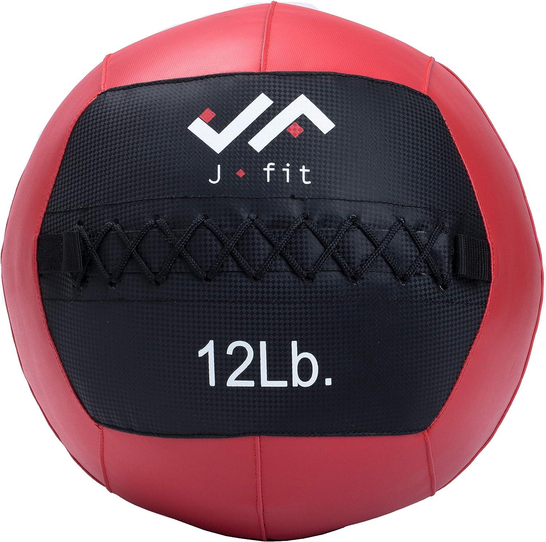 JFIT J/Ajuste balón Medicinal, Rojo/Negro, 12-Pound: Amazon ...