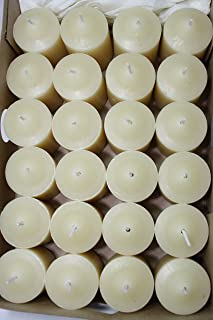 Enlightened Ambience Tangy Blood Orange Scented Ivory Votive Candles 24 Pack