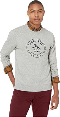 Long Sleeve Stamp Logo French Terry Crew