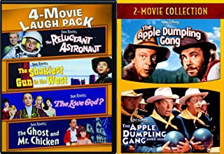 Head for cover! Don Knotts Comedy Gang Movie Pack Apple Dumpling Rides Again Double Feature + The Ghost and Mr. Chicken / Reluctant Astronaut / The Love God? / The Shakiest Gun in the West 6 Film Set