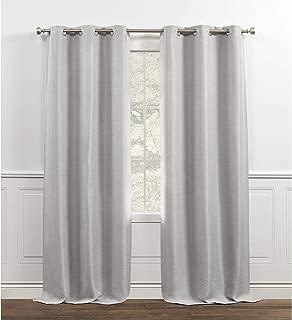 Chaps Melody Curtain Panels, 38x84, Light Grey