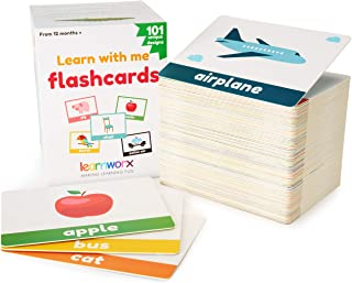 learnworx Flash Cards - 101 Cards - 202 Sides - Learn Objects, Numbers & Play Games - Great Value, Fun Learning and Educational Flashcards