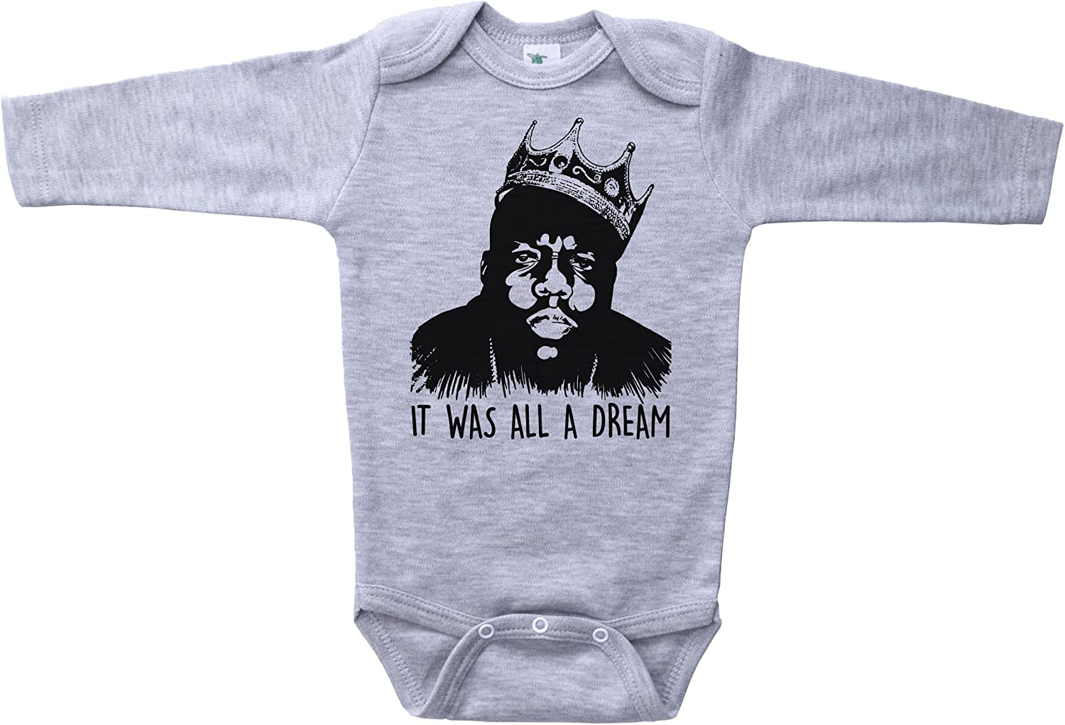 gift Biggie Ranking TOP18 Smalls Inspired Baby Onesie IT Dream was Inf A B.I.G. All