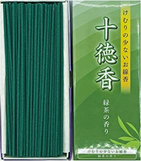 Jittoku-KOH Green Tea Incense Sticks, (220sticks), Rich Aroma, Less Smoke, Japanese Quality