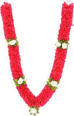 Daedal Crafters- DC237 Pack of Two Medium Size Garland(75 cms), Dark Pink