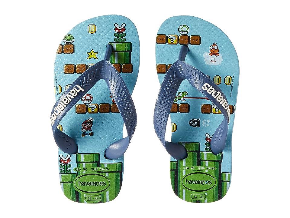 Havaianas Kids Mario Bros Flip-Flop (Toddler/Little Kid/Big Kid) (Blue Splash) Kids Shoes