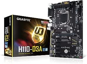 GIGABYTE GA-H110-D3A (LGA1151/Intel H110/Cryptocurrency Mining/2xDDR4/6xPCIE/M.2/SATA/ATX Motherboard) (Renewed)