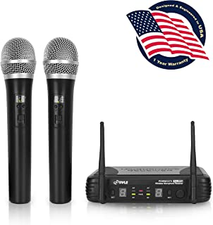 Professional Wireless Microphone System – Dual UHF Band, Wireless, Handheld, 2 MICS..