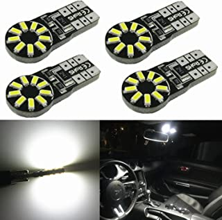 Alla Lighting 4pcs T10 Wedge Best Value Super Bright High Power 3014 18-SMD 194 168 2825 W5W White LED Bulb Lamp for Car T...