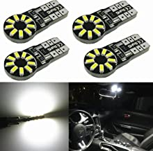 Alla Lighting 4x 194 168 LED Light Bulb 6000K White Super Bright 175 168 2825 W5W T10 Wedge 3014 SMD Chipsets LED Replacement Bulbs CAN-BUS for Car Interior Map Dome Trunk License Plate Parking Lights