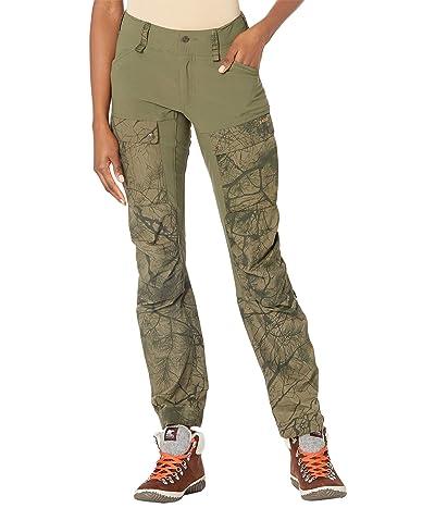 Fjallraven Keb Trousers (Green Camo/Laurel Green) Women