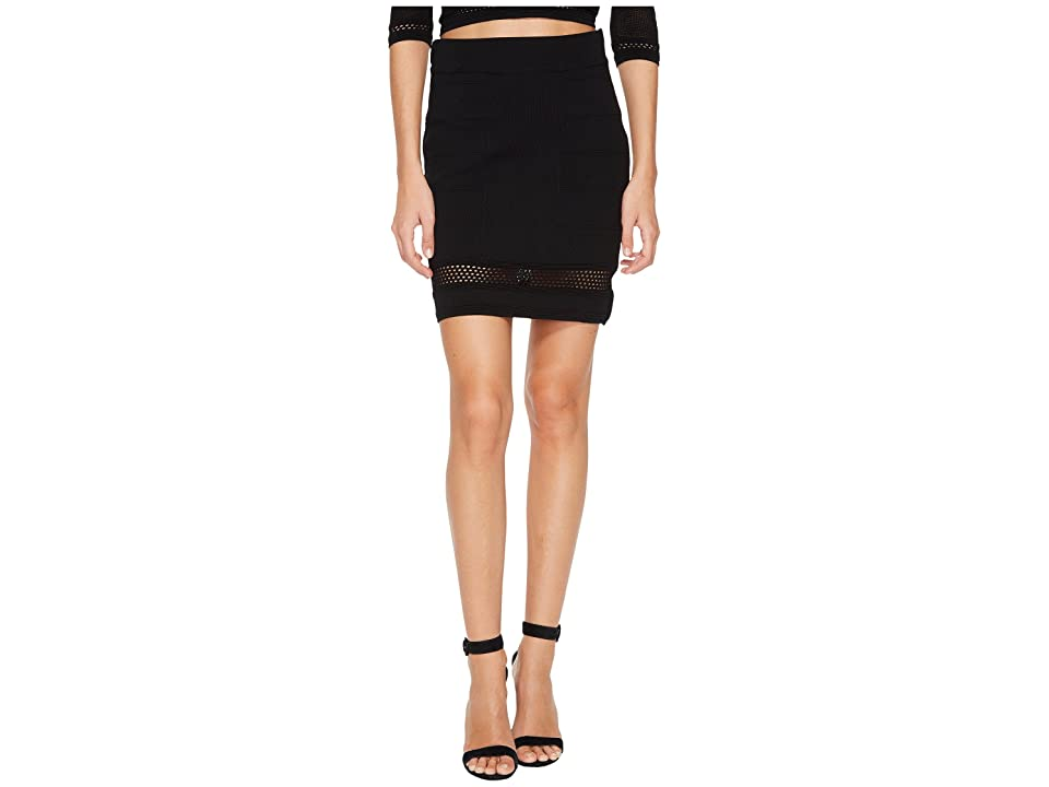 Bishop + Young Siena Peekaboo Skirt (Black) Women