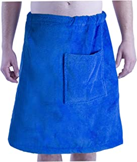 BY LORA byLora Mens Spa Wrap Towels, Swimming Pool, Beach and Spa Cover Up, One Size, Royal Wrap