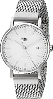 Vestal ' Sophisticate 36 Metal' Swiss Quartz Stainless Steel Dress Watch, Color:Silver-Toned (Model: SP36M03.MSVM)
