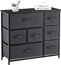 APICIZON 7 Drawer Dresser Storage Tower Unit, 3-Tier Dresser Organizer with Drawers, Steel Frame Chest Fabric Bins Cabinet...