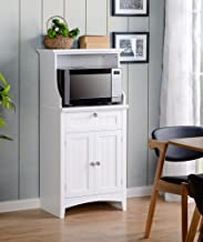 American Furniture Classics OS Home and Office Microwave/Coffee Maker Utility Cabinet, White