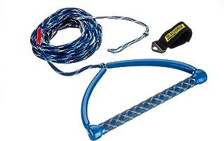 Seach華86724 3 段式滑水绳,15 英寸 EVA 握把,65 英尺长