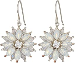 Opal Layered Floral Drop Earrings