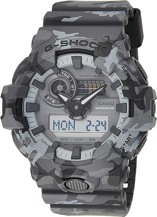 Orologio 20 bar casio g-shock analogico - digitale uomo GA-700CM-8AER