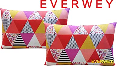 Everwey Enterprise Medium Hard Cotton Printed Pillows 17 x 27 Inches 2 Pillow Set/Pair
