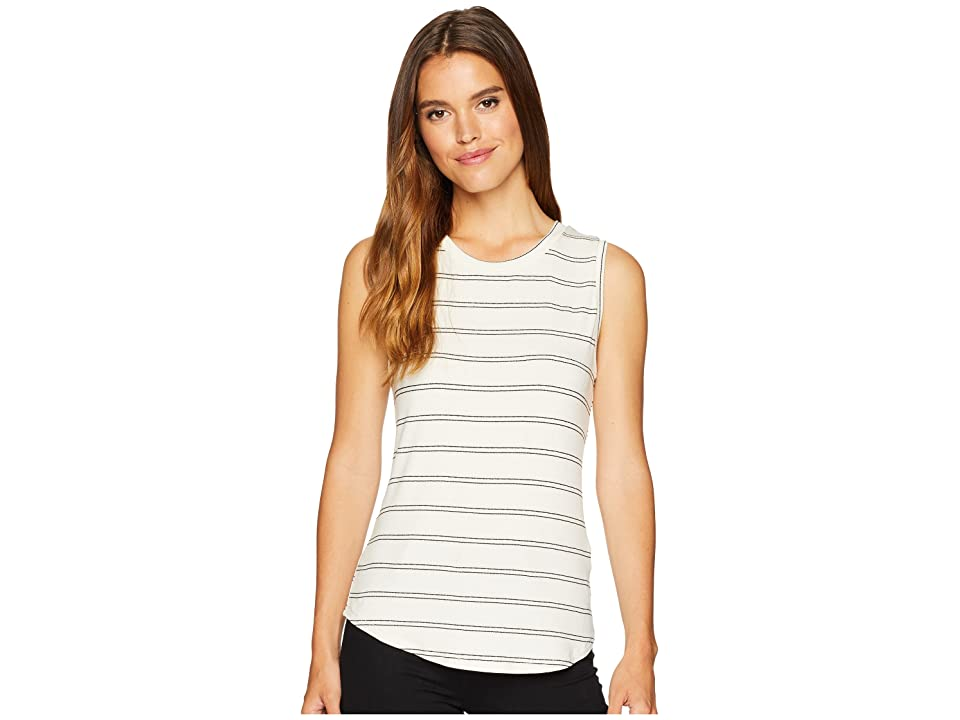 Miss Me Lace-Up Back Crew Neck Tank Top (White) Women