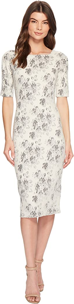 Maggy London - Tapestry Jacquard Sheath Dress