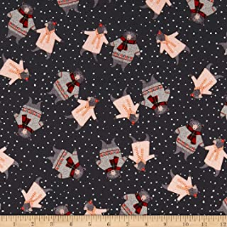 Windham Fabrics A Walk In The Woods Bears Fabric, Charcoal, Fabric By The Yard
