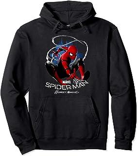 Leezeshaw Unisex 3D Spider-Man Far from Home Print Pullover Hoodies Hooded Sweatshirt Spiderman Superheld Gemustert Cosplay Kost/üm Pullover mit Taschen S-5XL