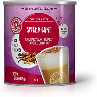 Big Train Spiced Chai Tea Latte, 1.9 Lb (1 Count), Powdered Instant Chai Tea Latte Mix, Spiced Black Tea with Milk, For Ho...