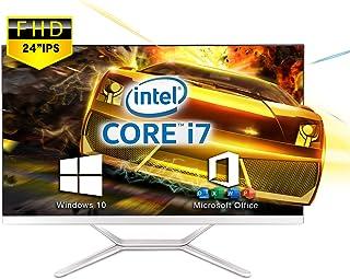 VETESA 2021年モデル 24型フルHD液晶一体型 デスクトップパソコン CPU: Core i7 3615MQ 2.4GHz/【Win 10搭載】【MS Office 2016搭載】メモリー:8GB/SSD:256GB/USB 3.0/...