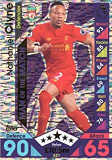 Topps Match Attax 2016/2017 Nathaniel Clyne Man Of The Match 16/17 Trading Card