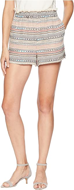 Paperbag Waist Tweed Shorts