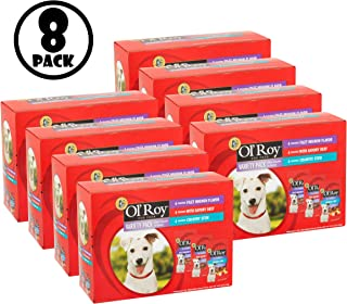 Ol' Roy Mini Chunks in Gravy Wet Dog Food Variety Pack: Filet Mignon, Savory Beef & Country Stew, 3.97 lb, 12ct, Pack of 8