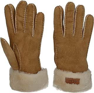Women's Turn Cuff Water Resistant Sheepskin Gloves Chestnut LG