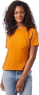 Alternative womens Heavy Wash Cropped Pocket Tee T-Shirt
