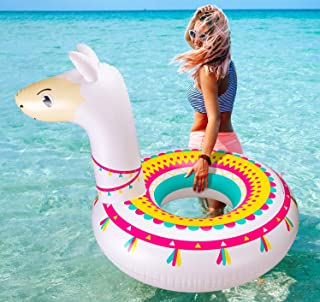 Llama Pool Float Ride On Party Toys Alpaca Inflatable Swimming Ring Fiesta Water Supplies - for Adults or Kids